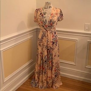 Free People Long Floral Dress